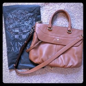 Vince Camuto leather Dean handbag with dust cover